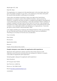 Cover Letter For Graphic Design Job Cover Letter For Graphic Designer Job Serpto