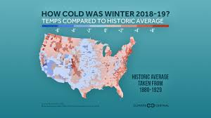 2018 19 Winter Temps Compared To Historic Average Climate