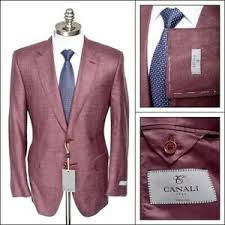 Details About 1495 Nwt Canali Brick Red Wool Silk Slim Fit Sport Coat Jacket 54 44 R Fits 42