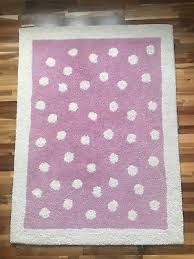 laura ashley pink polkadot rug very good condition