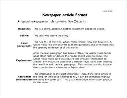 Newspaper Story Template Template Of A Newspaper Article Callatishigh Info