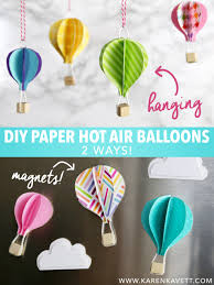 DIY Cute Paper Hot Air Balloons