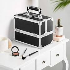 makeup train case travel cosmetic box organizer lockable storage artist bag