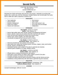Hair Stylist Job Description Resume Resume Hairtylistample Examples Formatting Letter Assistant 49