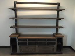 modern office credenza. Hand Crafted Modern Industrial Office Credenza And Shelving Unit Custom Made Kitchen Buffet Furniture Narrow Table Extra Long Sideboards Buffets Sideboard