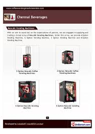 Lipton Coffee Vending Machine Price New Nescafe Vending Machines By Chennai Beverages