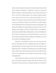 make a example to descriptive essay