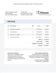 Professional Invoice Template Word 19 Blank Invoice Templates Microsoft Word