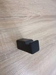 NOBLE Square Matte Black Bathroom Robe Towel Hook Homegear