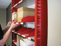 flexi bins slide in shelves and sliding dividers adjust easily to match changing inventory shelves may be raised or lowered when fully loaded