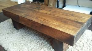 new coffee table hand made in railway sleepers well known oak