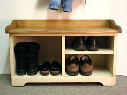 Furniture Wooden Bench With Storage  Entryway Shoe Bench Wood Bench With Storage Plans