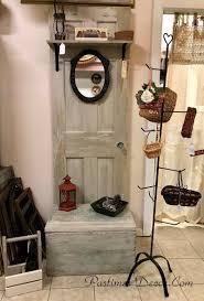 antique door bench storage hall tree vine door old door hall tree antique door