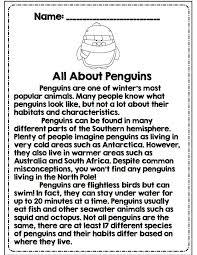 best penguins images polar animals penguins 3rd grade reading passage all about penguins part of math ela common core aligned 31
