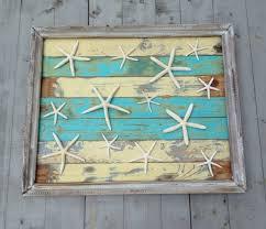 wall art designs beach themed wall art framed reclaimed wood starfish art beach art  on wooden beach themed wall art with wall art designs the best beach themed wall art coastal themed