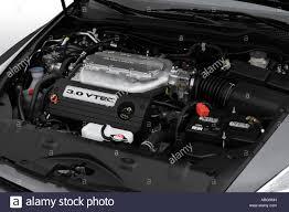 2007 Honda Accord Engine Light On 2007 Honda Accord Ex L V6 In Gray Engine Stock Photo