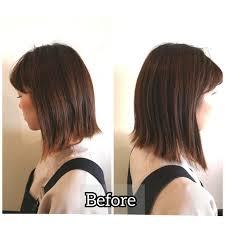 長さと髪色の違いと印象同じ髪型でも長さヘアカラーで印象がこんなに