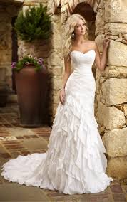 fabulous sweetheart strapless fit and flare tiered ruffle skirt