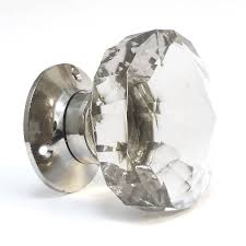 glass door knob faceted internal turning mortice knobs by pushka home