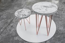 copper concrete circle a side table furniture