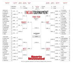 Ncaa Tournament Bracket Scores 2015 Ncaa Tournament Bracket Si Com