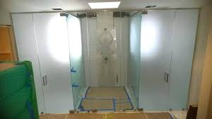 frosted shower doors frosted glass shower door