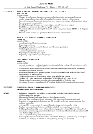 Civil Project Manager Resume Samples Velvet Jobs