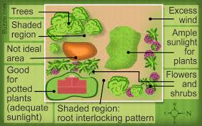 flower garden layout. The Actual Garden Layout And Flower Varieties To Be Planted Depend On Where Area Is Located. A Sunny Yard With Fertile Well-drained Soil