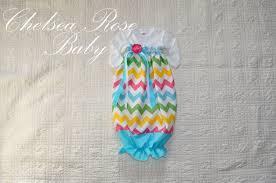 Baby Nighty Designs Baby Girl Easter Onesie Dress Baby Girl Dress Chevron