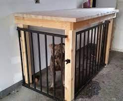 garage dog kennel workbench designed