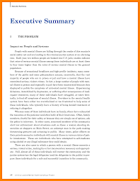 Format For An Executive Summary Examples Of Executive Summary Cover Letter Samples Cover