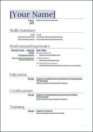 Resume Sample Templates Word Resume Layouts Word Curriculum Vitae