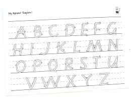 Letter Tracing Templates Tracing The Alphabet Tracing Alphabet Templates Free My Template