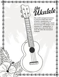 Small Picture Ukulele Coloring Page World Music Pinterest