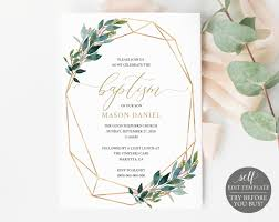 Baptism Invitations Templates Baptism Invitation Template Try Before You Buy Printable