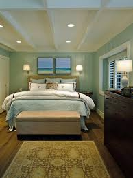 Small Green Bedroom Bedroom Colour Scheme Idea With Blue Wall Brown Curtain Light