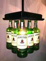 liquor bottle chandelier whiskey bottle bar light table chandelier