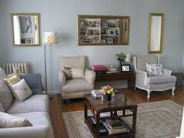 Grey Blue And Beige Living Room