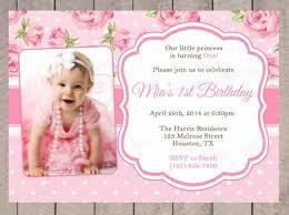 Birthday Party Invitation Card Template Free Free Birthday Invitation Cards For 1st Birthday Party 1st Birthday
