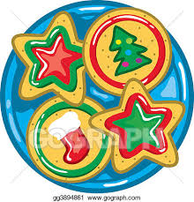 plate of christmas cookies clipart. Christmas Cookies To Plate Of Clipart