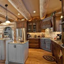 Kitchen - rustic kitchen idea in Boise with an undermount sink,  raised-panel cabinets