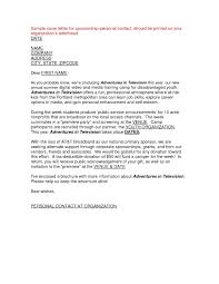 Personal Sponsorship Letter Examples Of Letters Asking For Personal Sponsorship Fresh Cover 1