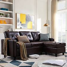 leather sectional sofa small space