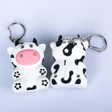 Us 1 16 33 Off Cute Milk Cow Doll Led Light Sound Keychain Key Holder Bag Key Ring Cushion Pillow Child Child Christmas Gift Girl Baby Girl On