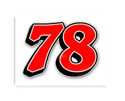 78 pride Furniture Row Racing Ultra Vinyl Decal has a clear