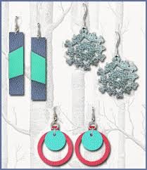 faux leather earrings svg digital cut file for cricut image 0