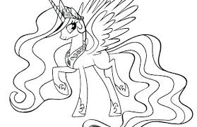 My Little Pony Coloring Pages Princess Celestia And Luna Page