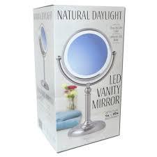 ott lite natural daylight makeup mirror pink white chrome 26 watt by ott lite for beauty in new zealand