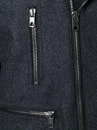 sel black gold off centre zip coat men clothing sel black and rose gold