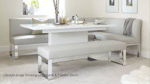 amazing 5 seater left hand corner bench and extending dining table in corner dining table
